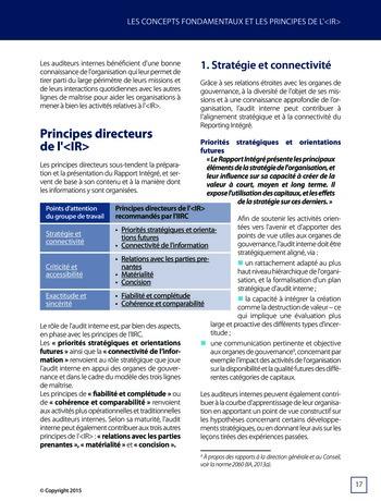 Améliorer le reporting intégré - La valeur ajoutée de l'audit interne page 23