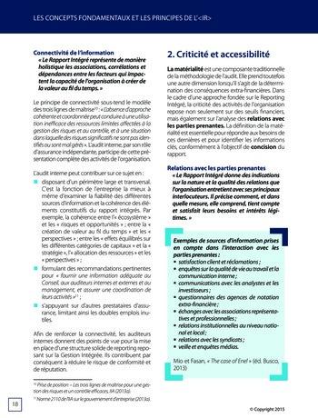 Améliorer le reporting intégré - La valeur ajoutée de l'audit interne page 24