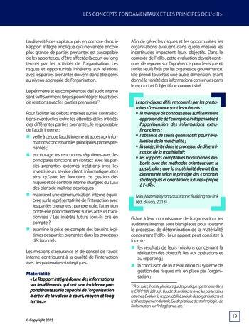 Améliorer le reporting intégré - La valeur ajoutée de l'audit interne page 25