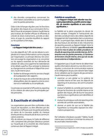 Améliorer le reporting intégré - La valeur ajoutée de l'audit interne page 26