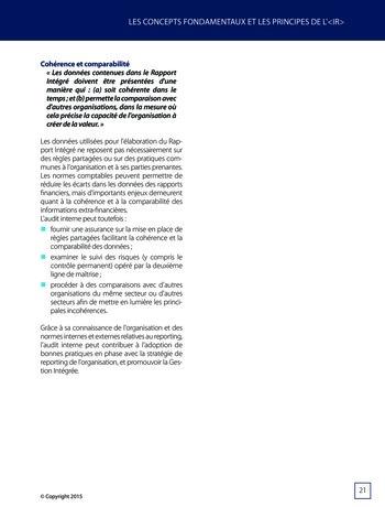 Améliorer le reporting intégré - La valeur ajoutée de l'audit interne page 27