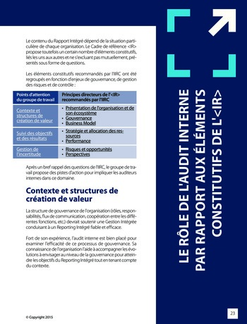 Améliorer le reporting intégré - La valeur ajoutée de l'audit interne page 29