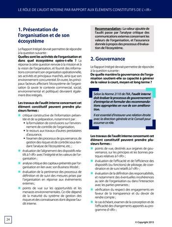 Améliorer le reporting intégré - La valeur ajoutée de l'audit interne page 30