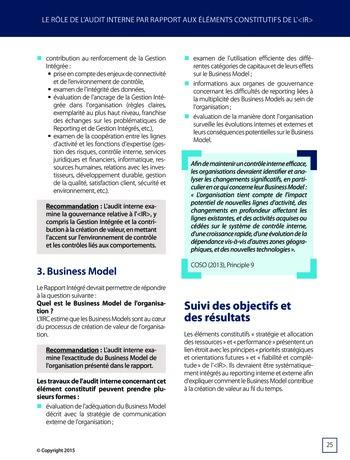Améliorer le reporting intégré - La valeur ajoutée de l'audit interne page 31
