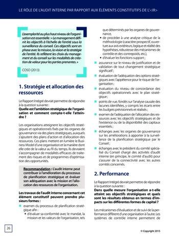 Améliorer le reporting intégré - La valeur ajoutée de l'audit interne page 32
