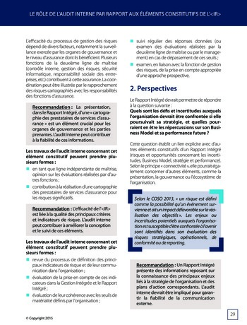 Améliorer le reporting intégré - La valeur ajoutée de l'audit interne page 35
