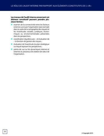 Améliorer le reporting intégré - La valeur ajoutée de l'audit interne page 36