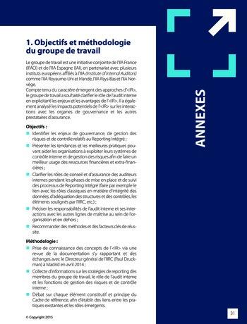 Améliorer le reporting intégré - La valeur ajoutée de l'audit interne page 37