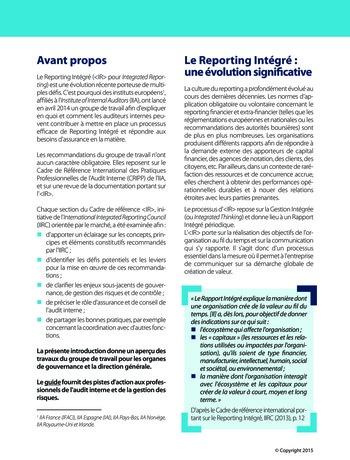 Améliorer le reporting intégré - La valeur ajoutée de l'audit interne page 6