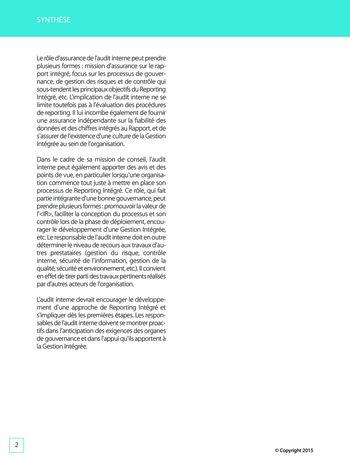 Améliorer le reporting intégré - La valeur ajoutée de l'audit interne page 8