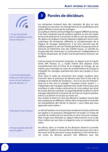 Audit interne et décision page 11