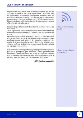 Audit interne et décision page 14