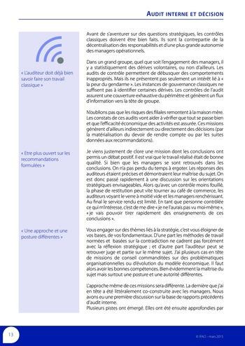 Audit interne et décision page 15