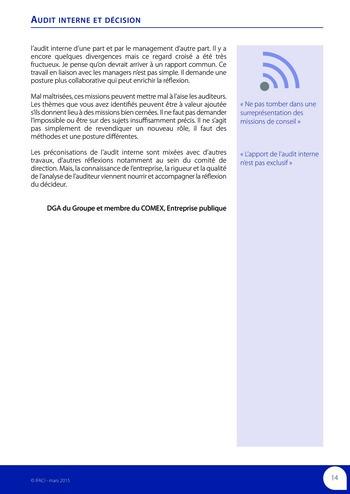 Audit interne et décision page 16