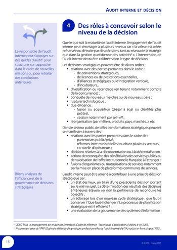 Audit interne et décision page 17