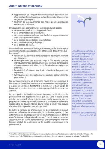 Audit interne et décision page 18