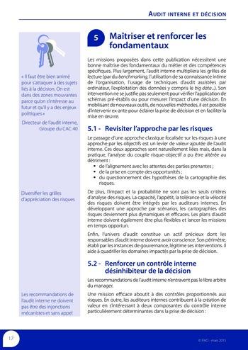 Audit interne et décision page 19