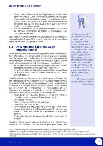 Audit interne et décision page 20