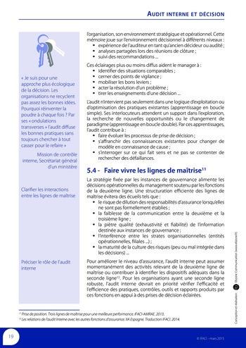 Audit interne et décision page 21