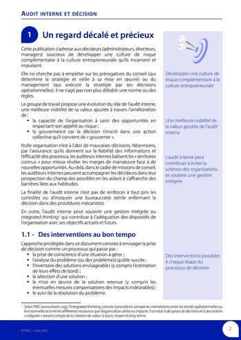 Audit interne et décision page 4