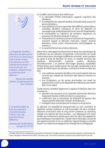 Audit interne et décision page 5
