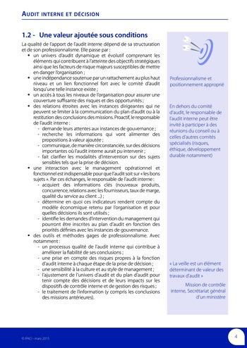 Audit interne et décision page 6