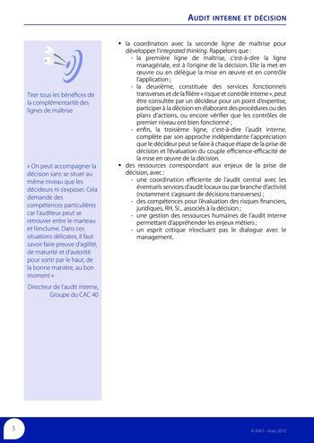 Audit interne et décision page 7