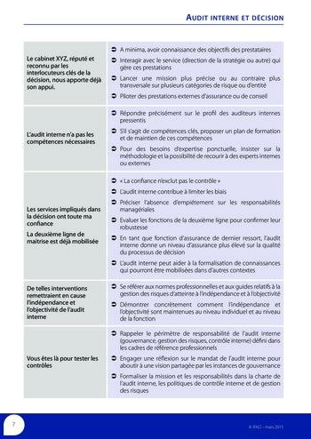 Audit interne et décision page 9