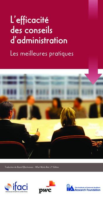 L'efficacité des conseils d'administration : les meilleures pratiques page 1