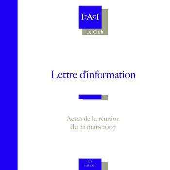 Club de l'IFACI – Invité Bertrand Collomb page 1