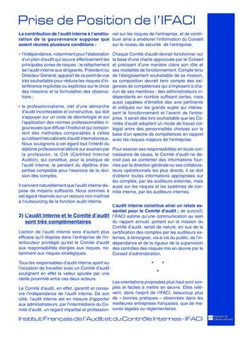 Prise de position - Gouvernement d'entreprise (Juil. 2002) page 2