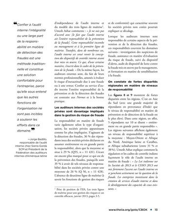Faire face au risque de fraude page 13