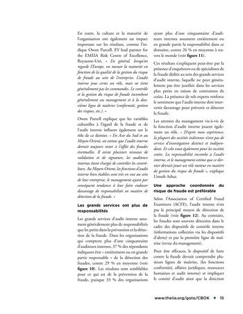 Faire face au risque de fraude page 15