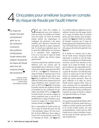 Faire face au risque de fraude page 22