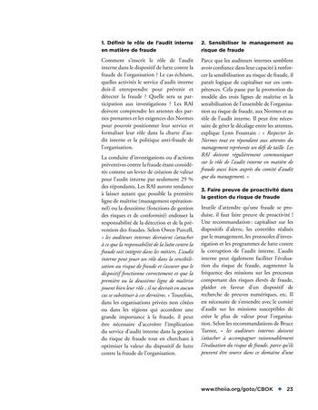 Faire face au risque de fraude page 23