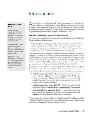 Faire face au risque de fraude page 5