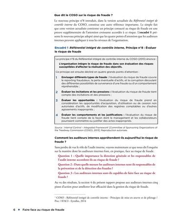 Faire face au risque de fraude page 6