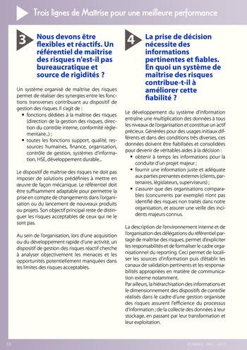 Trois lignes de maîtrise pour une meilleure performance / AMRAE, IFACI page 10