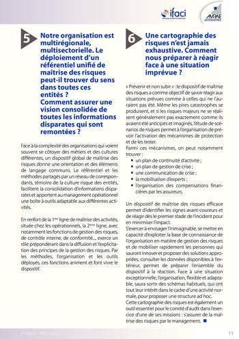 Trois lignes de maîtrise pour une meilleure performance / AMRAE, IFACI page 11
