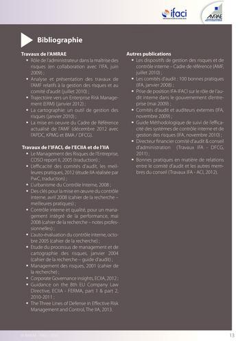 Trois lignes de maîtrise pour une meilleure performance / AMRAE, IFACI page 13