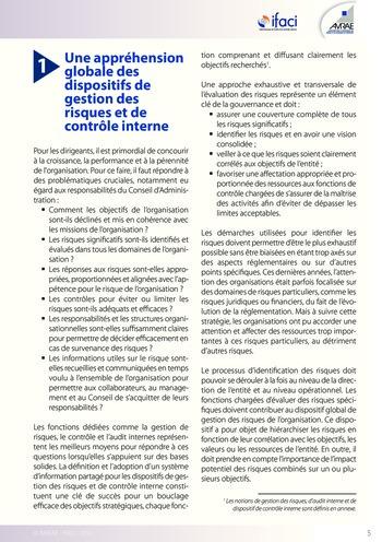 Trois lignes de maîtrise pour une meilleure performance / AMRAE, IFACI page 5