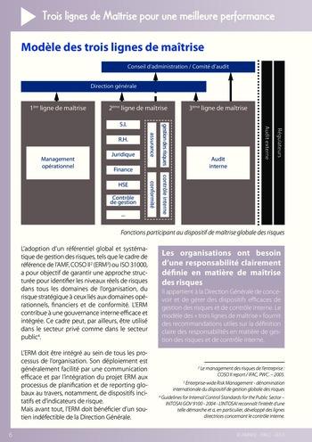 Trois lignes de maîtrise pour une meilleure performance / AMRAE, IFACI page 6