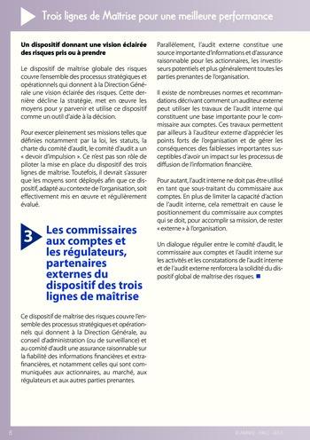 Trois lignes de maîtrise pour une meilleure performance / AMRAE, IFACI page 8