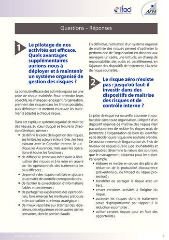 Trois lignes de maîtrise pour une meilleure performance / AMRAE, IFACI page 9