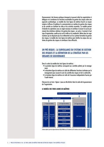Prise de position - Les trois lignes de maîtrise pour une gestion des risques et un contrôle efficaces / IIA page 4