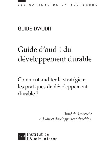 Guide d'audit du développement durable page 1