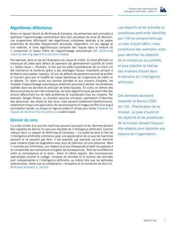 Perspectives internationales - Cadre de référence IIA pour l'audit de l'intelligence artificielle Partie B page 5