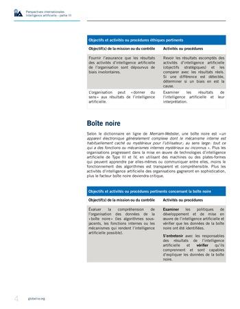 Perspectives internationales - Cadre de référence IIA pour l'audit de l'intelligence artificielle Partie B page 6