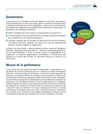 Perspectives internationales - Cadre de référence IIA pour l'audit de l'intelligence artificielle Partie B page 7