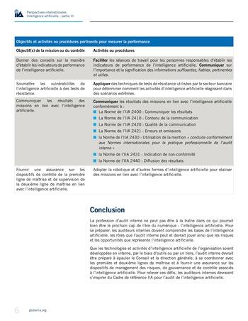 Perspectives internationales - Cadre de référence IIA pour l'audit de l'intelligence artificielle Partie B page 8